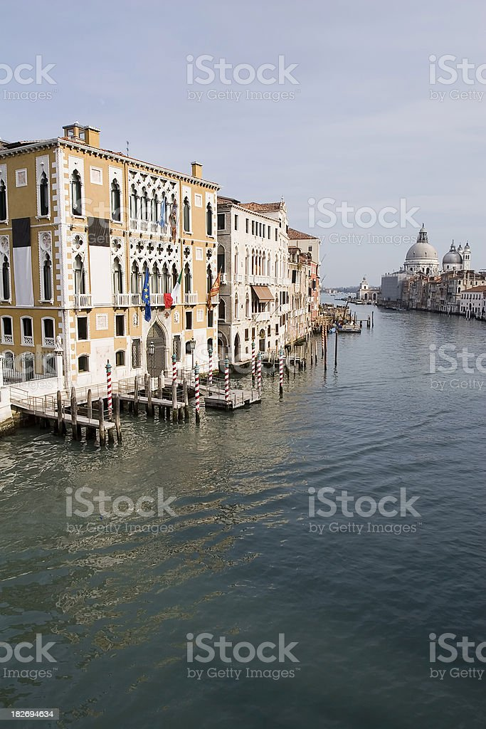 Venetian Palaces on the Grand Canal royalty-free stock photo