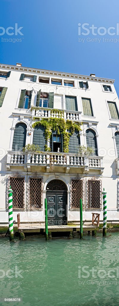 Venetian palazzo grand facade royalty-free stock photo