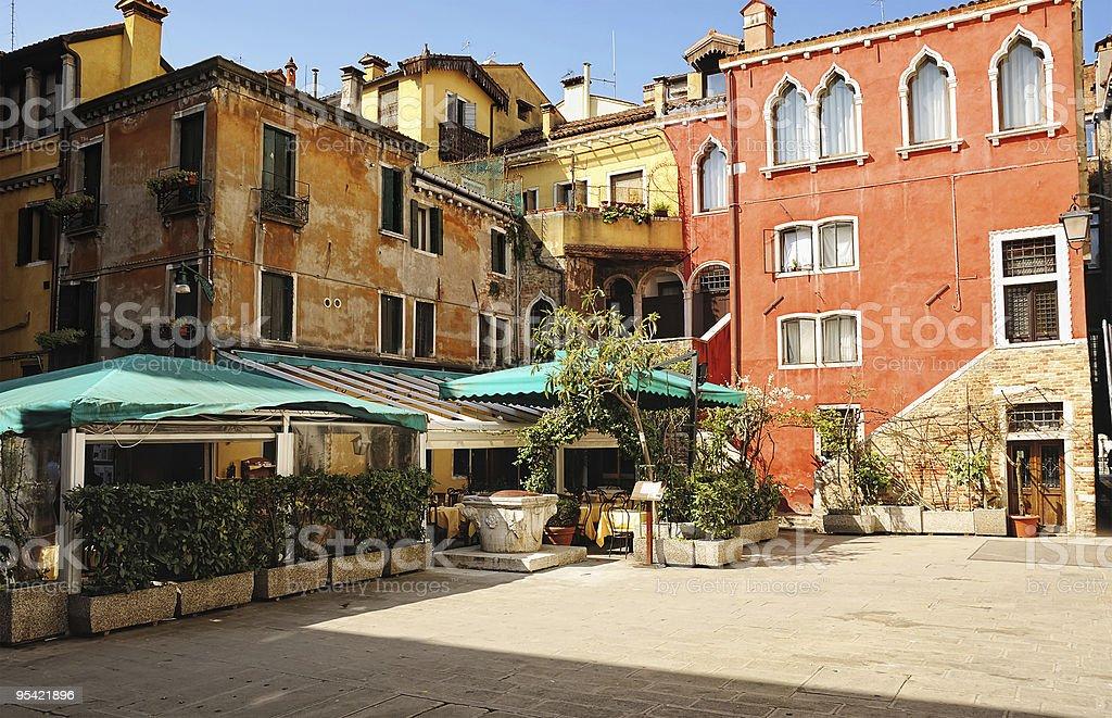 Venetian patio royalty-free stock photo