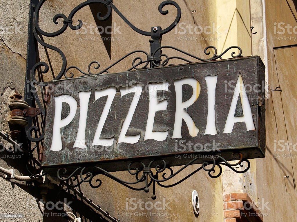 venetian pizza sign royalty-free stock photo