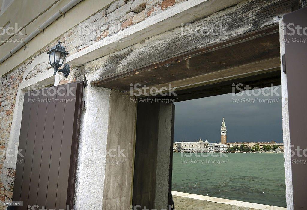 Venetian reflection stock photo