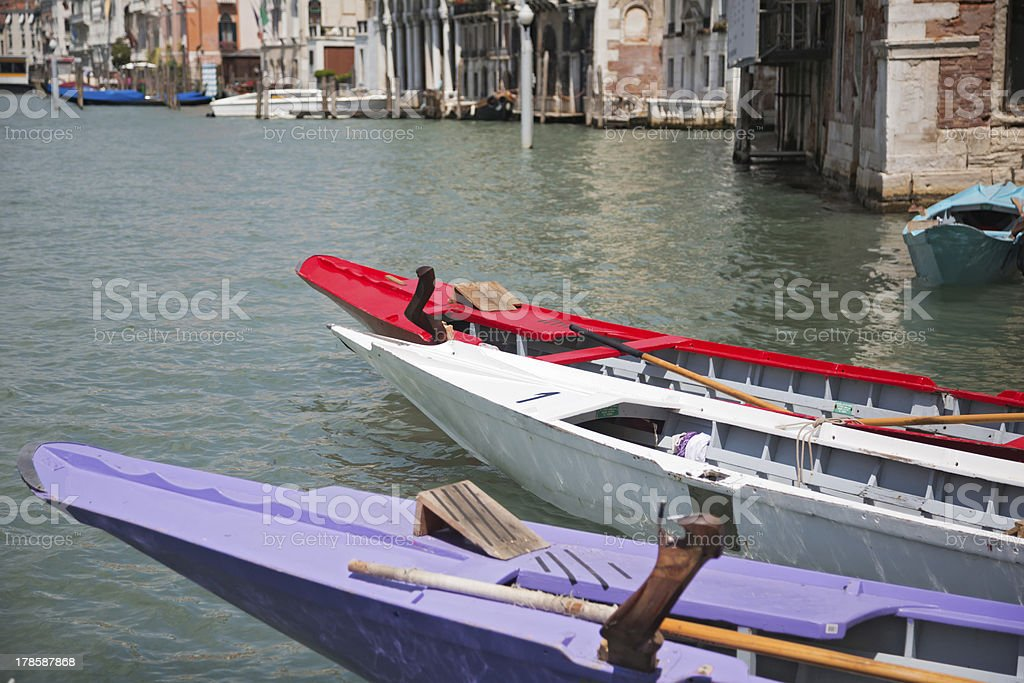Venetian row boats specially built for races royalty-free stock photo
