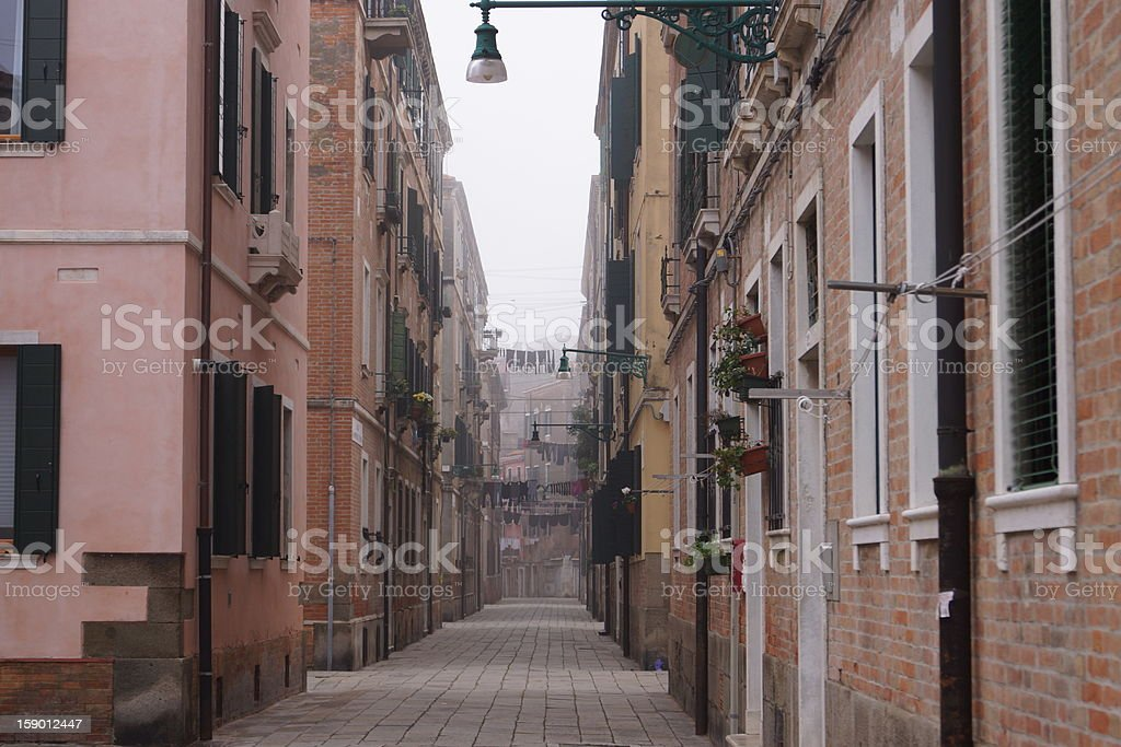 Venetian street stock photo