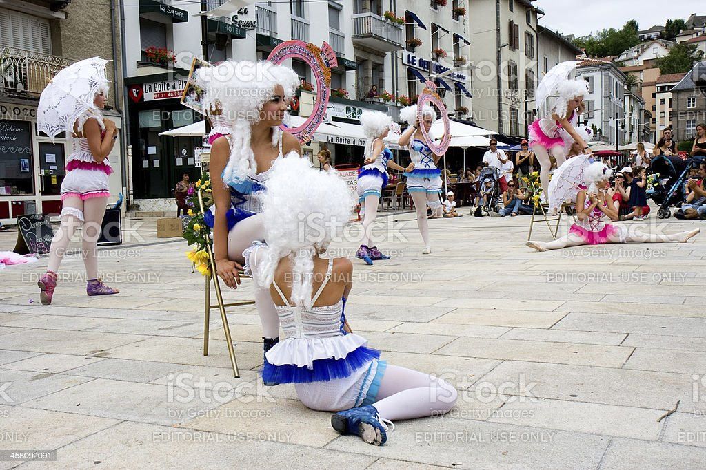 Venetian street show in Aurillac. royalty-free stock photo