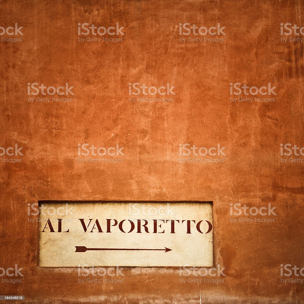 venetian street sign stock photo
