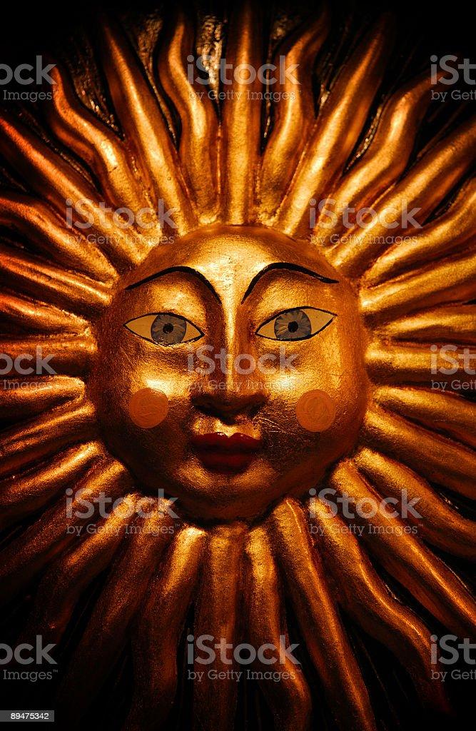 venetian sun ornament stock photo