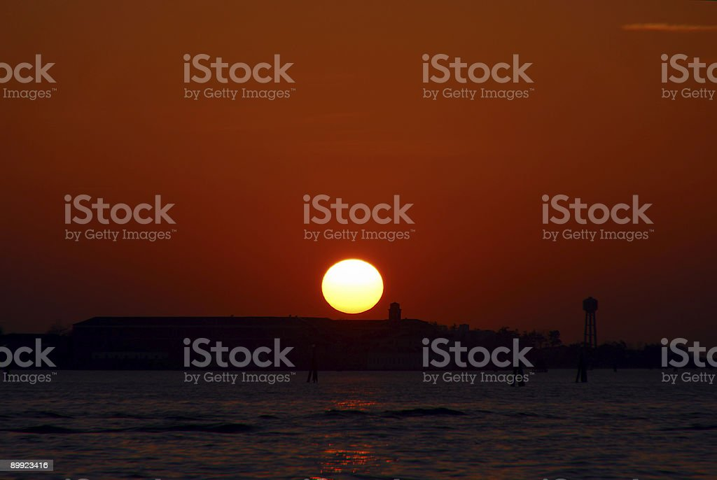 Venetian sunset royalty-free stock photo