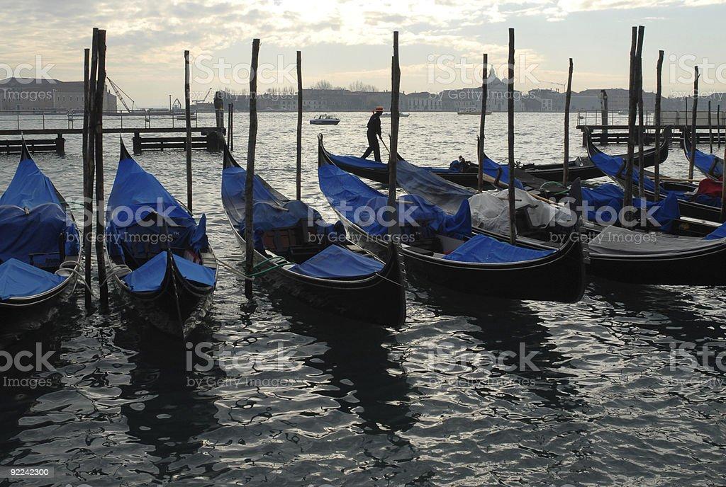 Venetian sunset stock photo