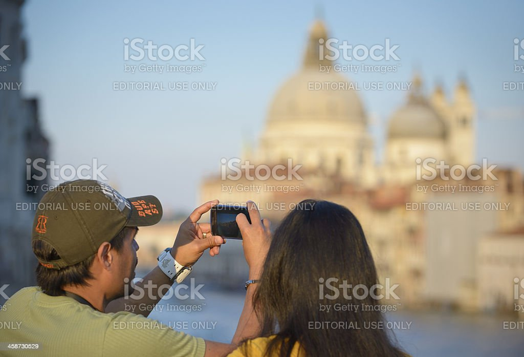 Venetian tourism royalty-free stock photo