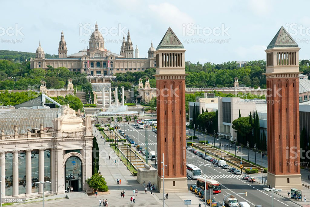 Venetian Towers - Barcelona - Spain stock photo
