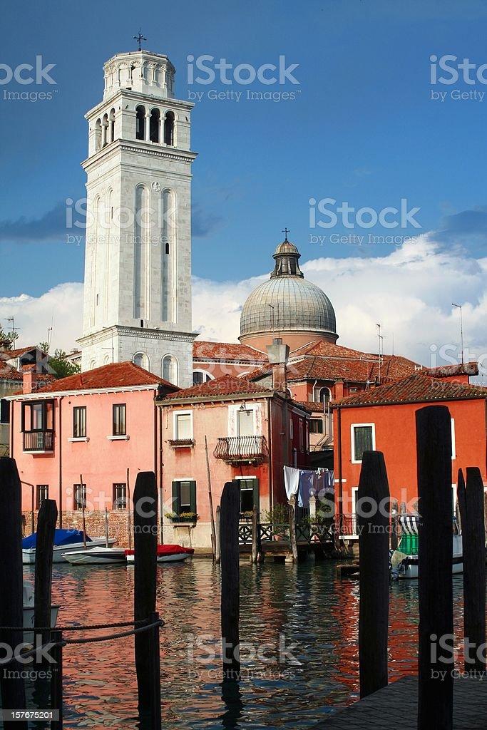 Venetian urban scene stock photo