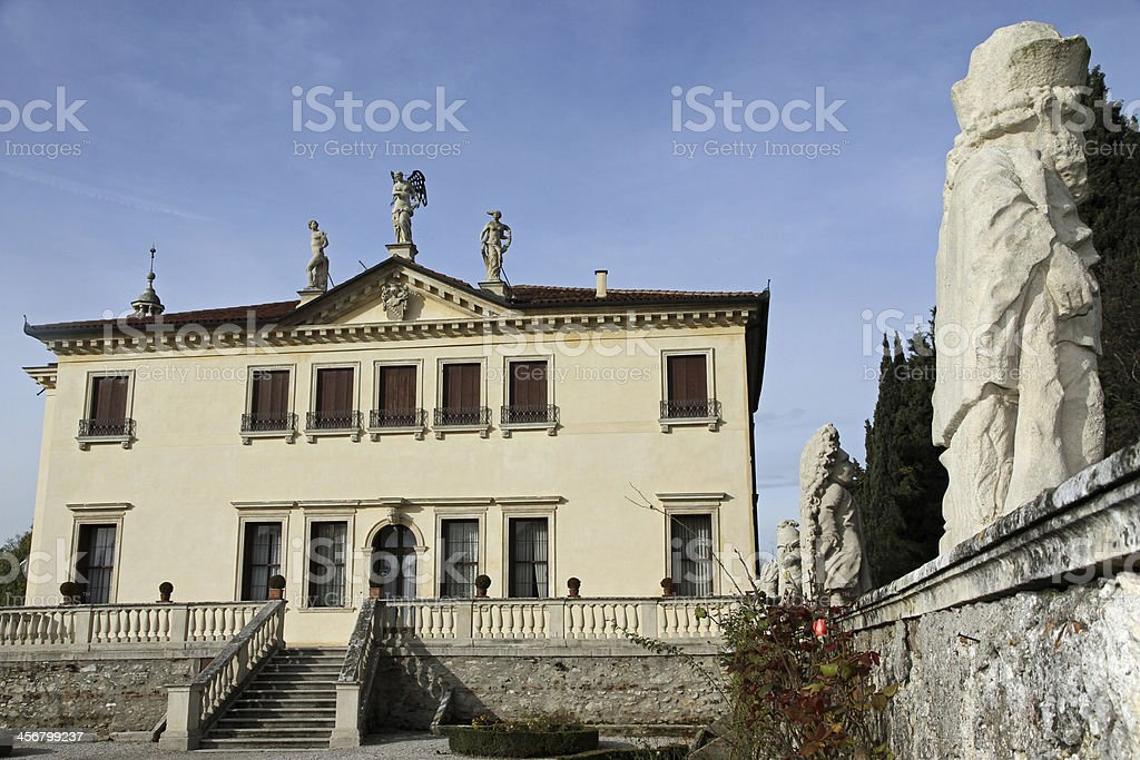 Venetian Villa Valmarana ai nani in the city of Vicenza stock photo