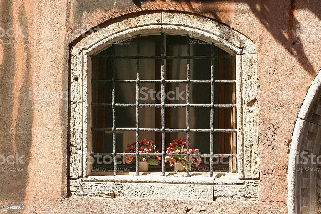 Venetian Window, venice, italy. royalty-free stock photo