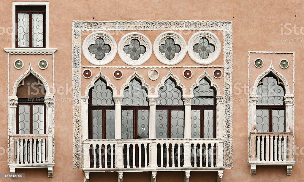 Venetian Windows royalty-free stock photo