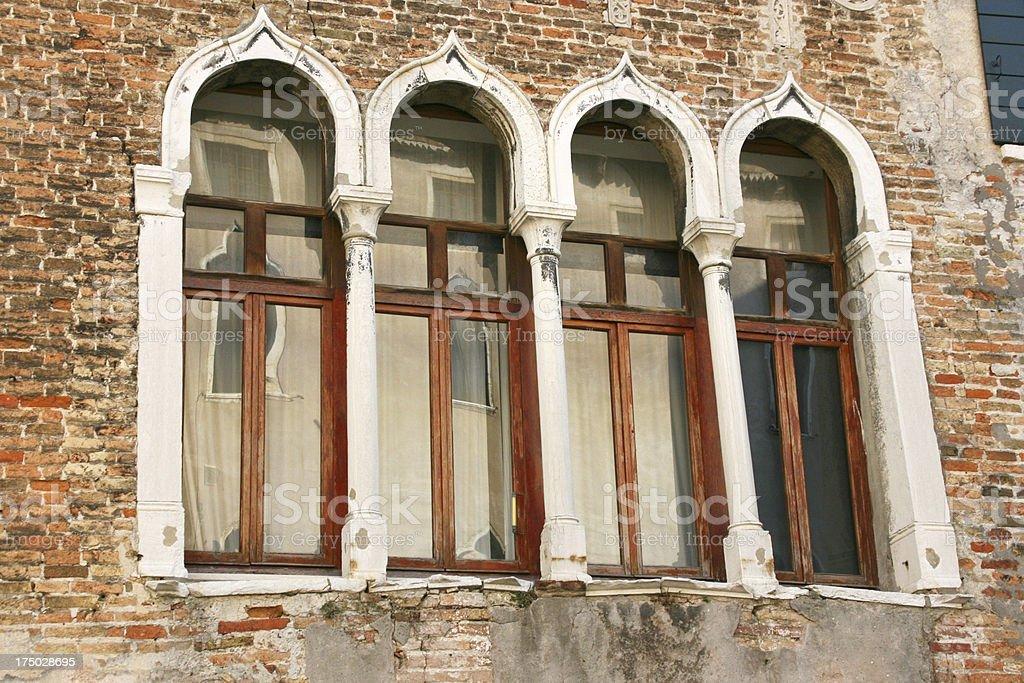 Venetian Windows, venice, italy. royalty-free stock photo