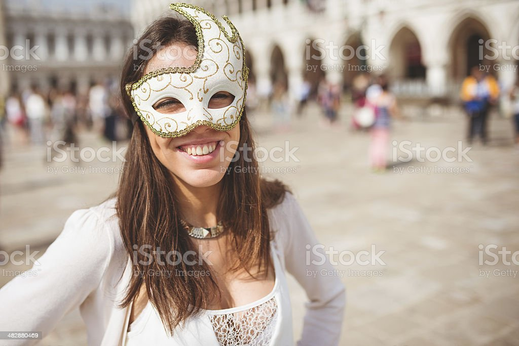 venetian woman for carnival stock photo