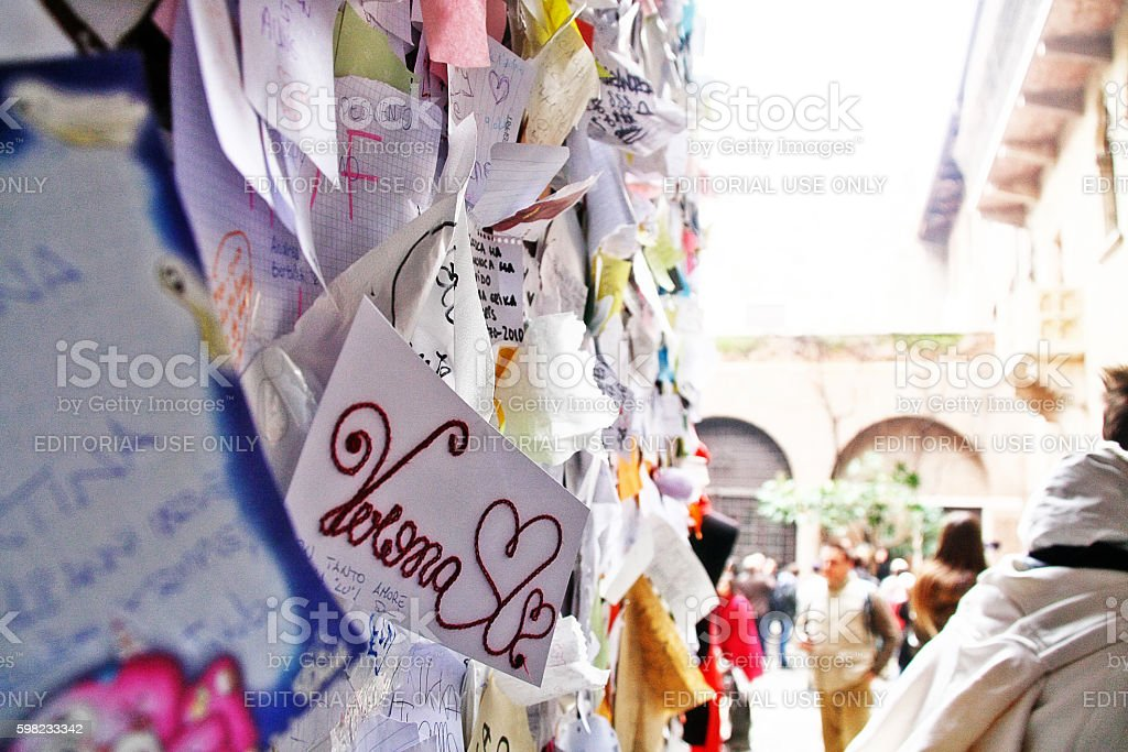 Veneto region, Verona, Italy - March 20, 2010 - Juliet house stock photo
