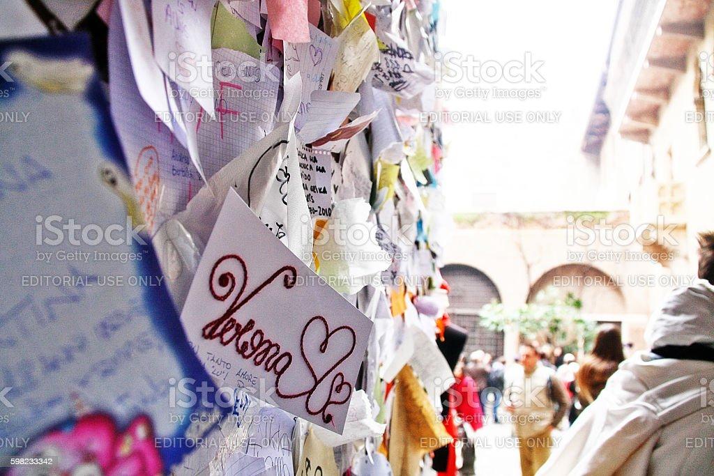 Veneto region, Verona, Italy - March 20, 2010 - Juliet house stock photo