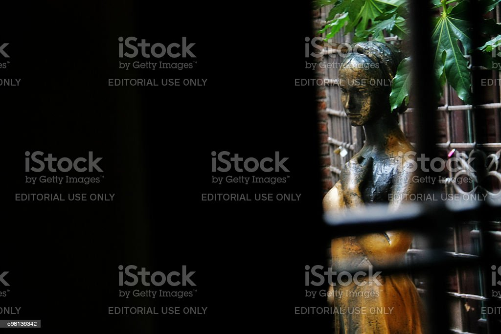 Veneto region, Verona, Italy - March 20, 2010 - Juliet statue stock photo