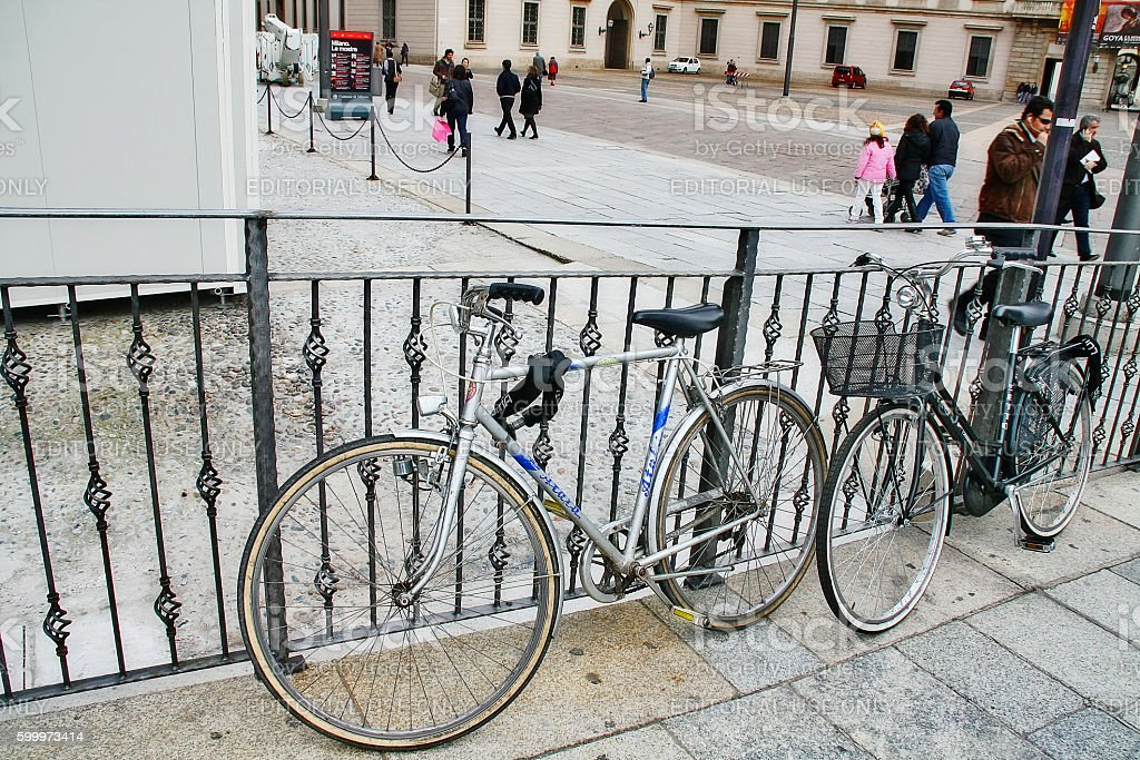 Veneto region, Verona, Italy - March 20, 2010 - Old bicycle stock photo