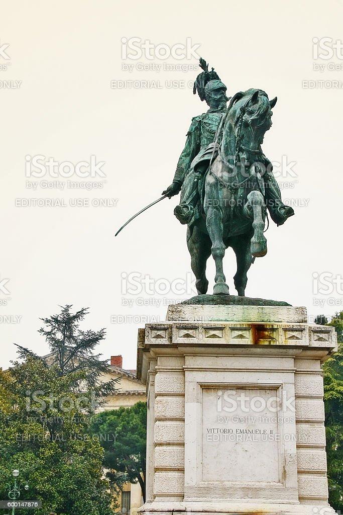 Veneto, Verona, Italy - March 20, 2010 - Victor Emanuel II stock photo