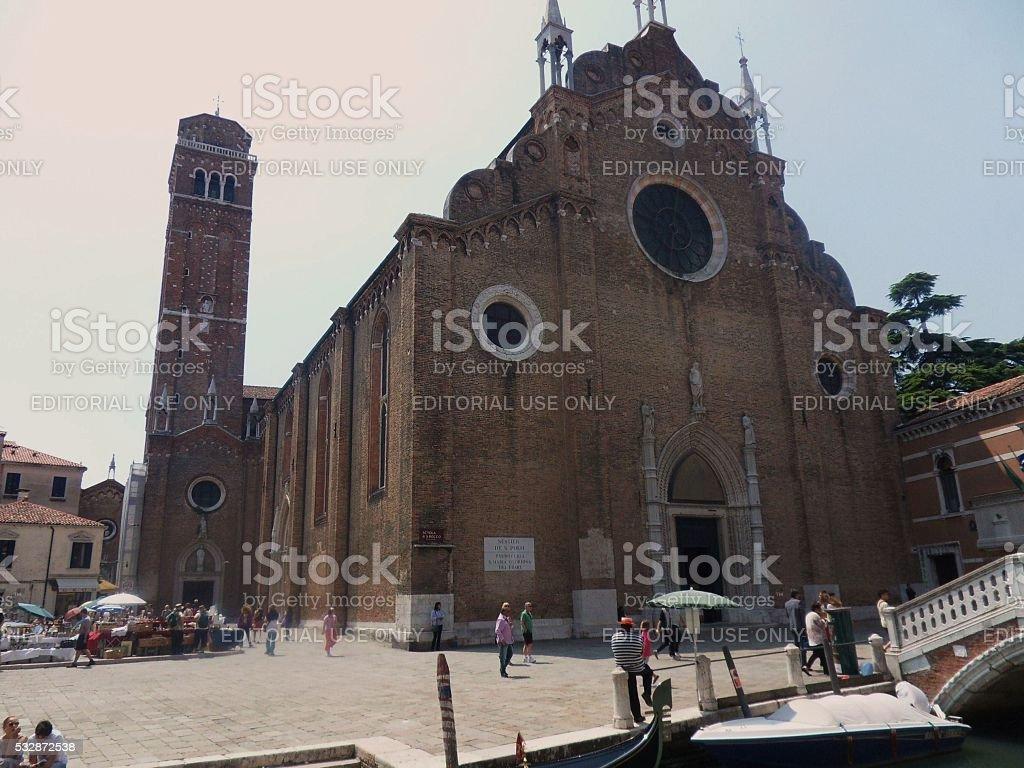 Venezia - Basilica dei Frari stock photo