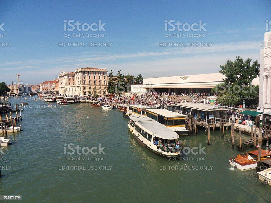 Venezia - Ferrovia Scalzi stock photo