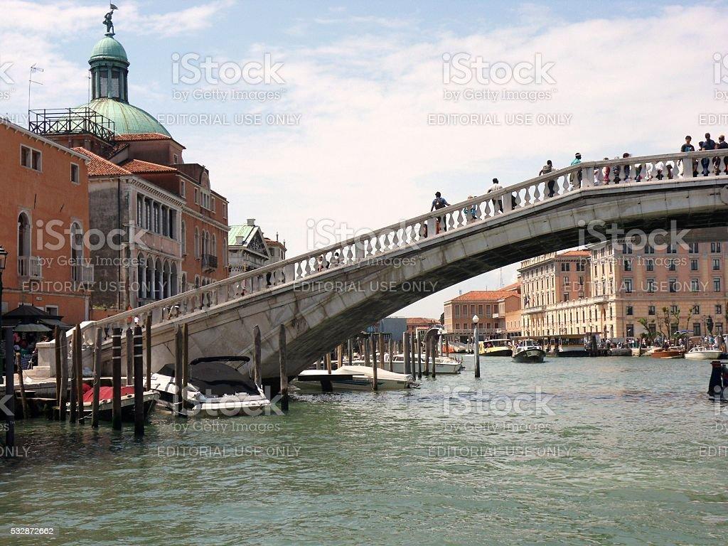 Venezia - Ponte degli Scalzi stock photo