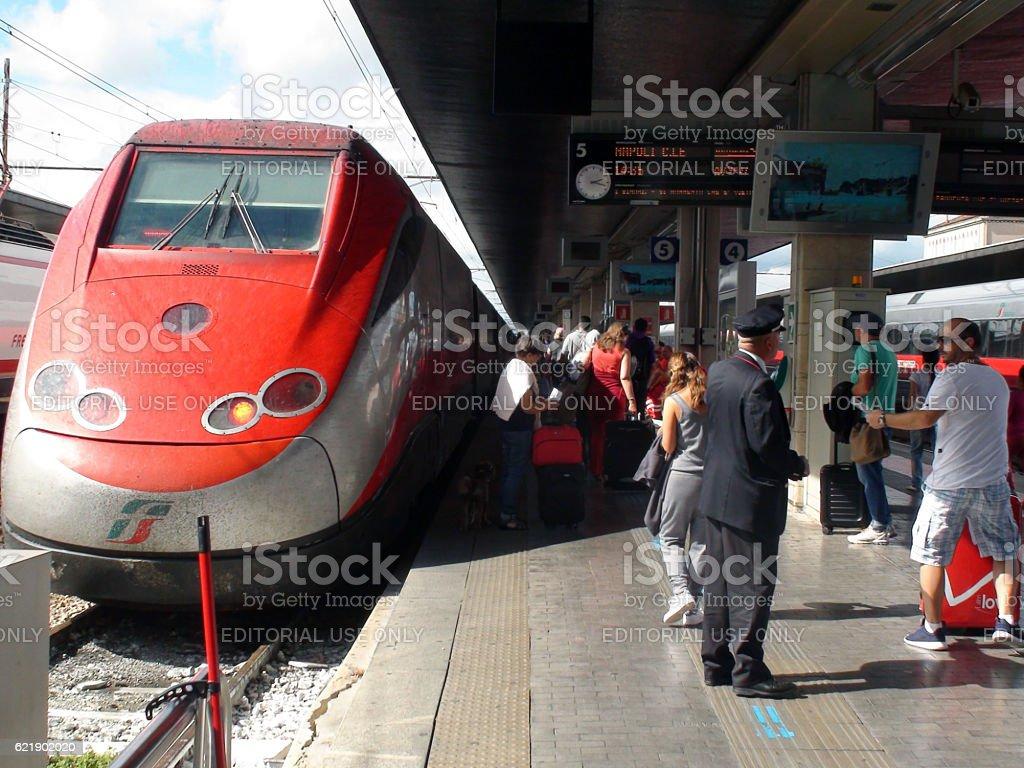 Venezia Santa Lucia Railway Station In Italy Plus Travellers.Europe stock photo