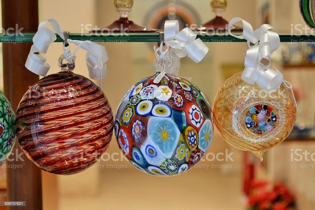 Venezia, sfere in vetro di murano stock photo