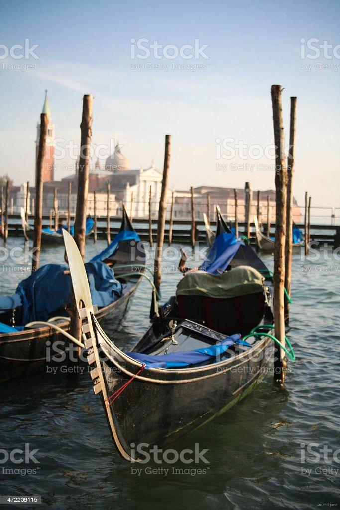 Venezian gondola stock photo