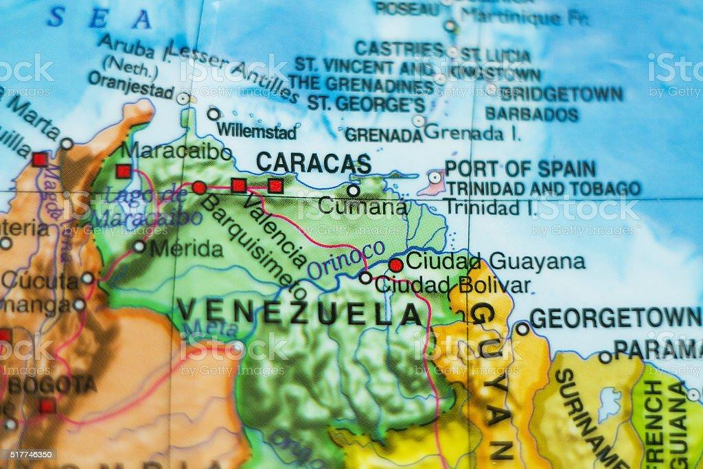 Venezuela country map . stock photo