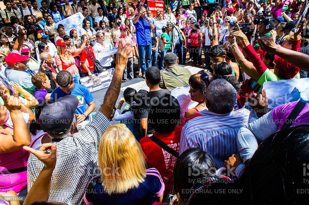 Venezuela Parliamentary Elections Campaign-December 6 stock photo