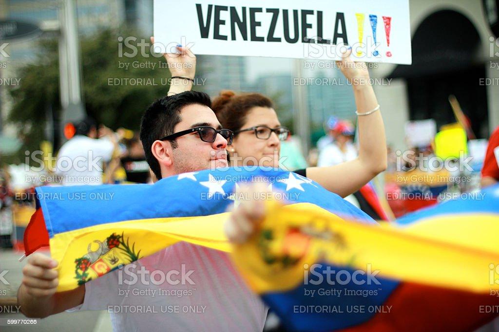 SOS Venezuela Protest stock photo