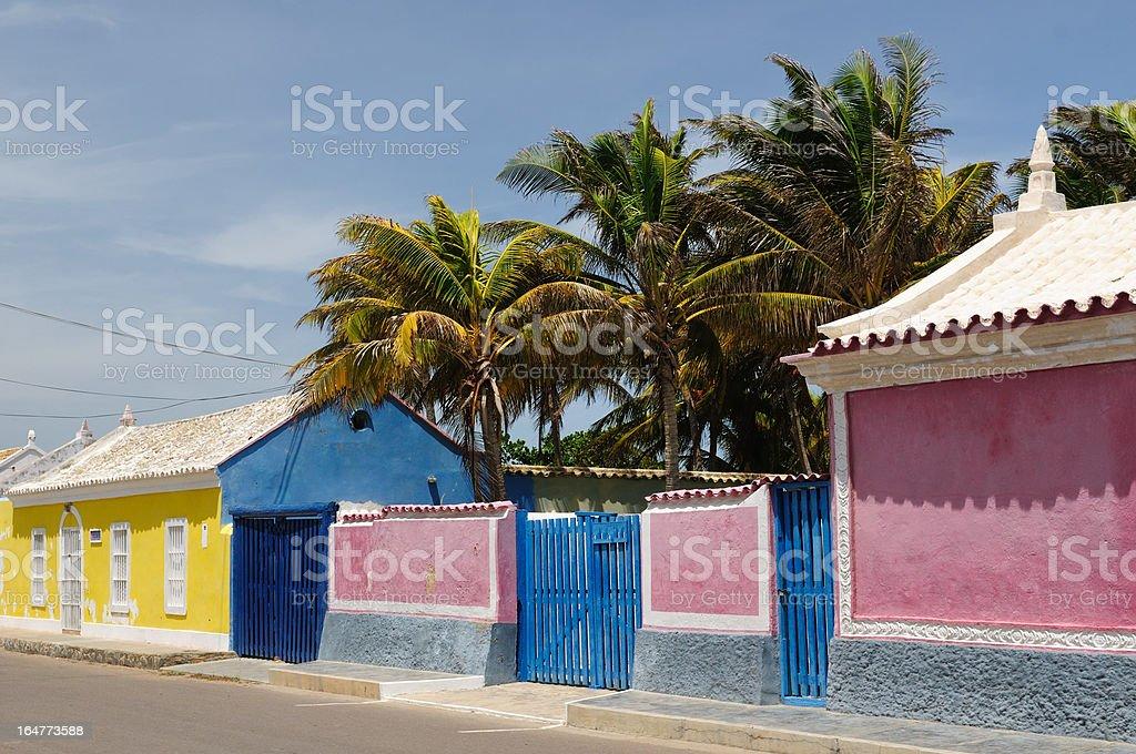 Venezuela, View on the Adicora fishing village stock photo