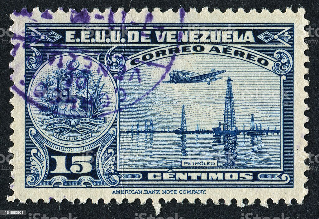 Venezuelan Oil Stamp royalty-free stock photo