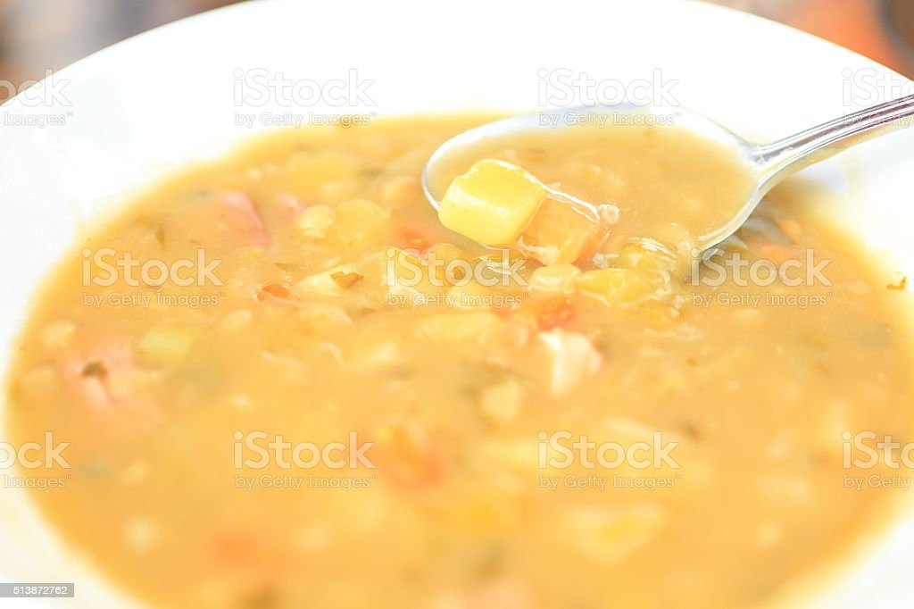 Venezuelan Pea Soup stock photo