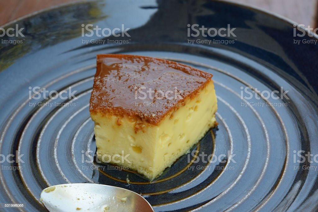 Venezuelan quesillo stock photo