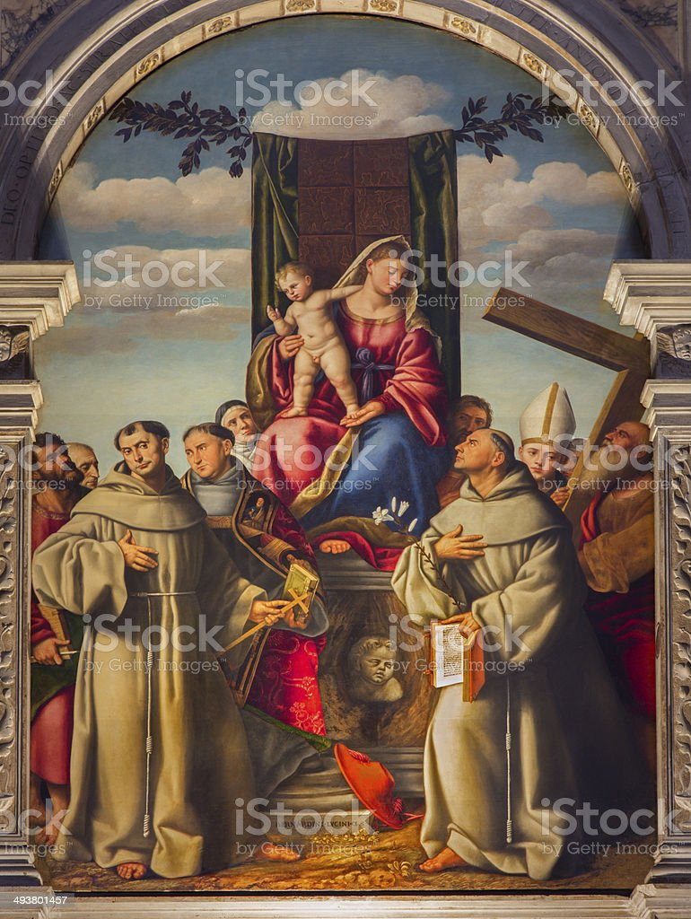 Venic - Madonna with the first Franciscans martyrs stock photo