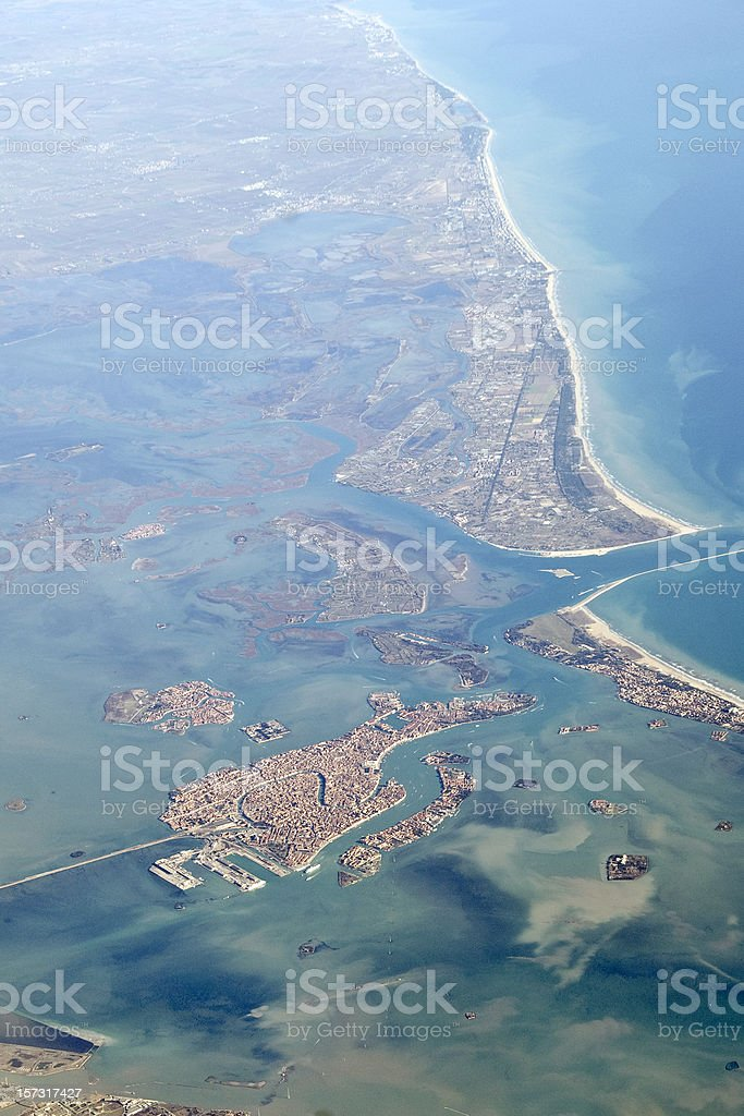 Venice aerial view royalty-free stock photo