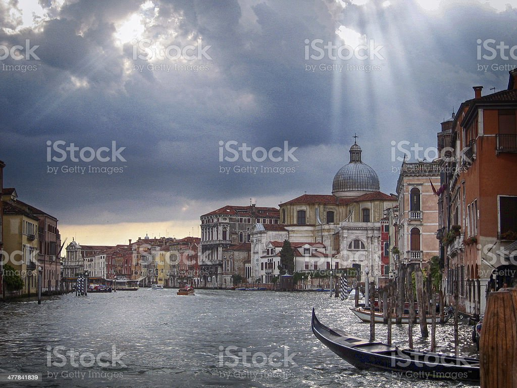 Venice after a storm royalty-free stock photo