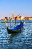 Venice and the gondolas in summer