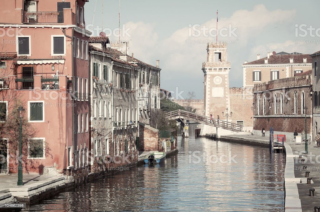 Venice: Arsenale royalty-free stock photo