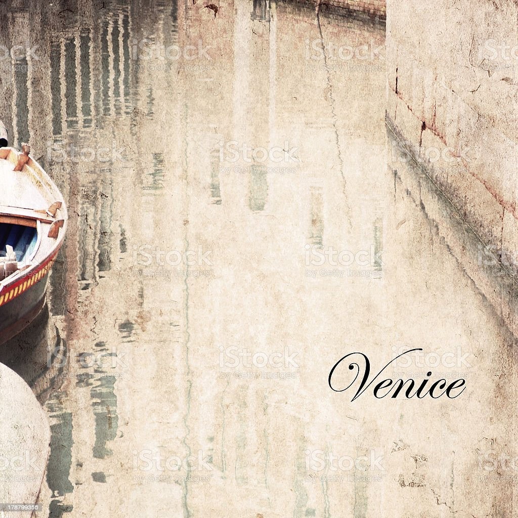 Venice, artwork in painting style royalty-free stock photo
