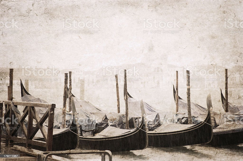 Venice, artwork in retro style royalty-free stock photo