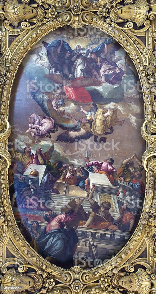 Venice - Assumption of Virgin Mary stock photo