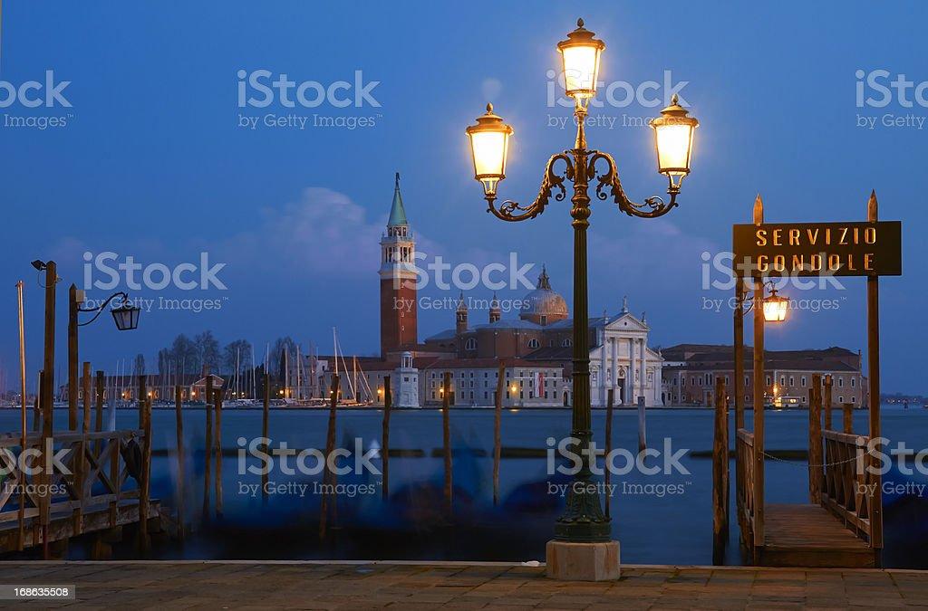 Venice at dusk. royalty-free stock photo