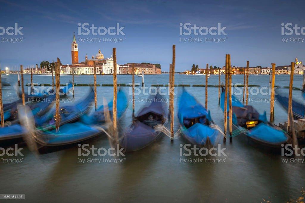 Venice at Dusk. stock photo