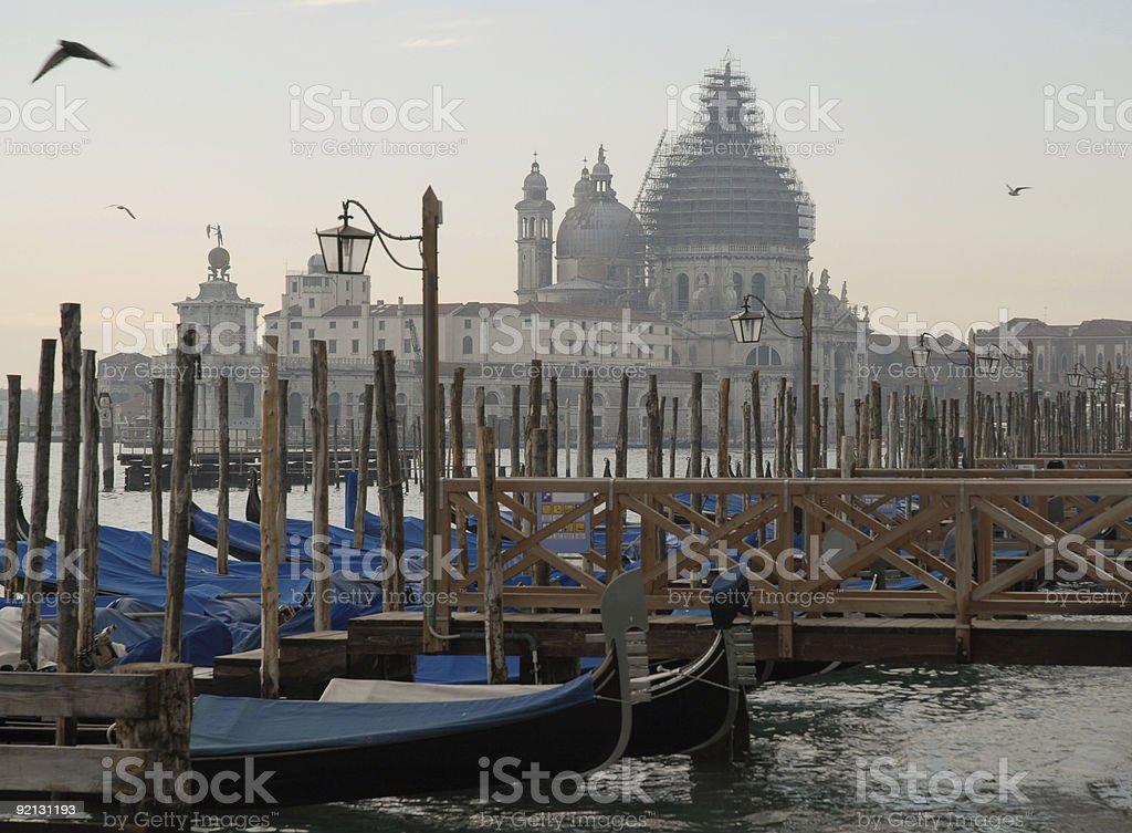 Venice at dusk stock photo