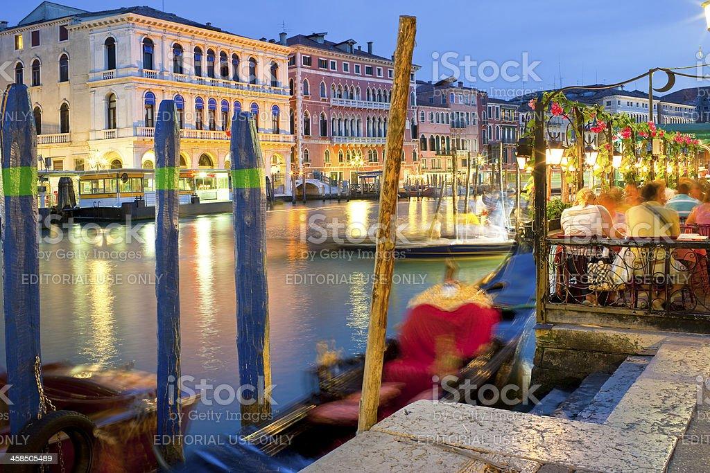 Venice at night royalty-free stock photo